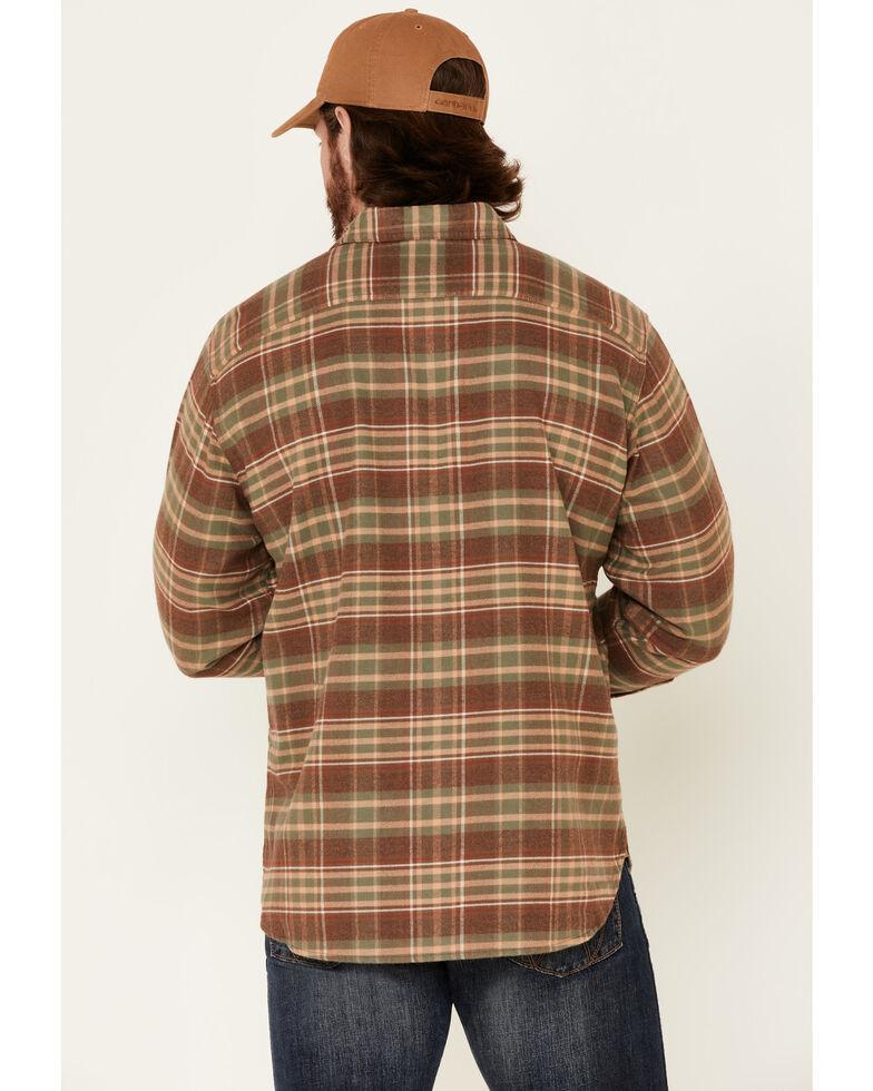 Pendleton Men's Tan Burnside Plaid Long Sleeve Western Flannel Shirt , Tan, hi-res