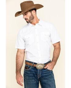 Gibson Men's White Water Solid Short Sleeve Shirt - Big, White, hi-res