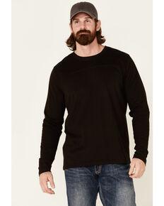 North River Men's Brown Moleskin Crew Long Sleeve T-Shirt , Brown, hi-res