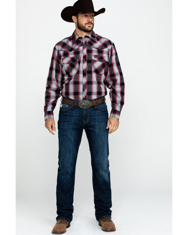 Cowboy Hardware Men's Chili Hombre Large Plaid Long Sleeve Western Shirt , Black, hi-res