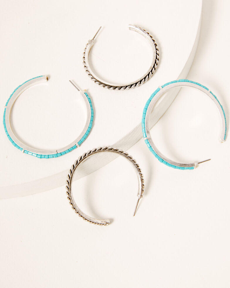 Idyllwind Women's The Perfect Pair Hoop Earrings Set, Silver, hi-res