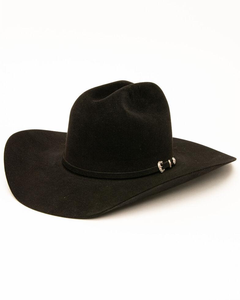 Rodeo King Men's 10X Low Felt Hat, Black, hi-res