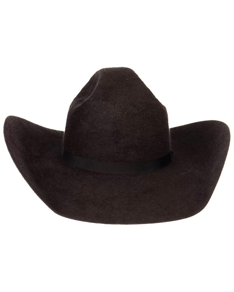Rodeo King Men's 10X Grizzly Charcoal Cowboy Hat, Charcoal, hi-res