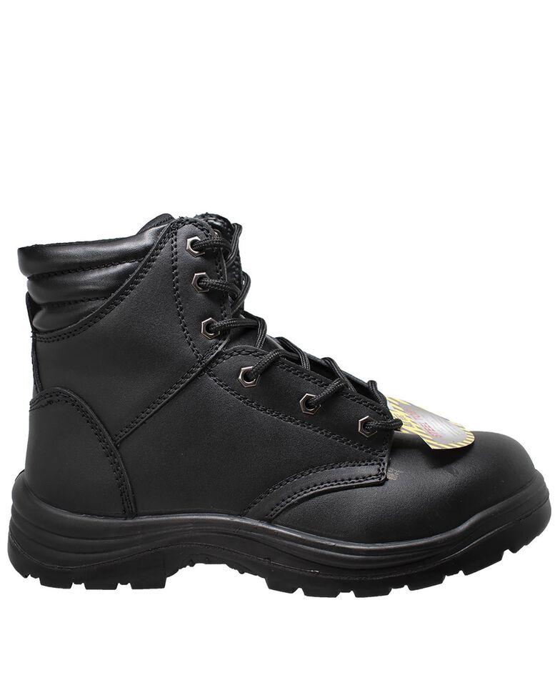 """Ad Tec Men's Black 6"""" Lace-Up Work Boots - Steel Toe, Black, hi-res"""