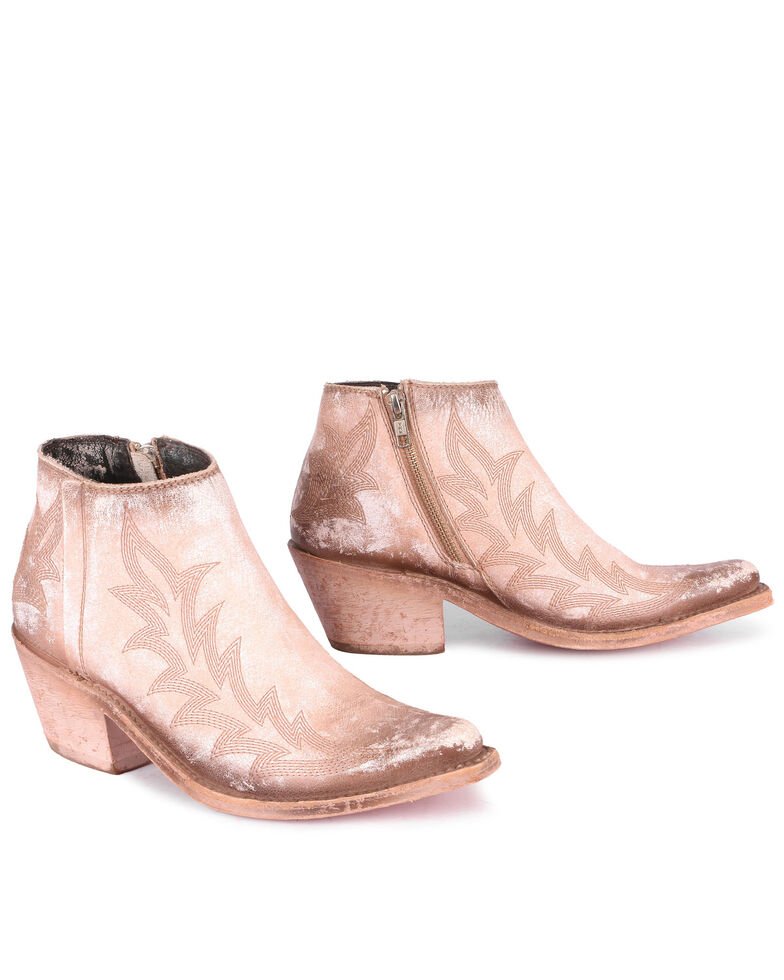 Liberty Black Women's Snow Pink Fashion Booties - Snip Toe, Pink, hi-res