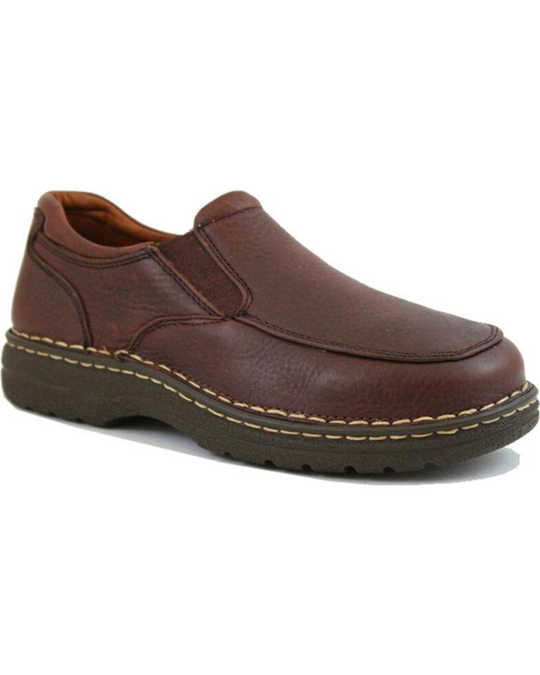 Ad Tec Men's Comfort Gold Slip-On Shoes, Brown, hi-res