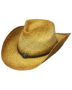 Henschel Men's Natural Tuscola Raffia Straw Western Hat , Natural, hi-res