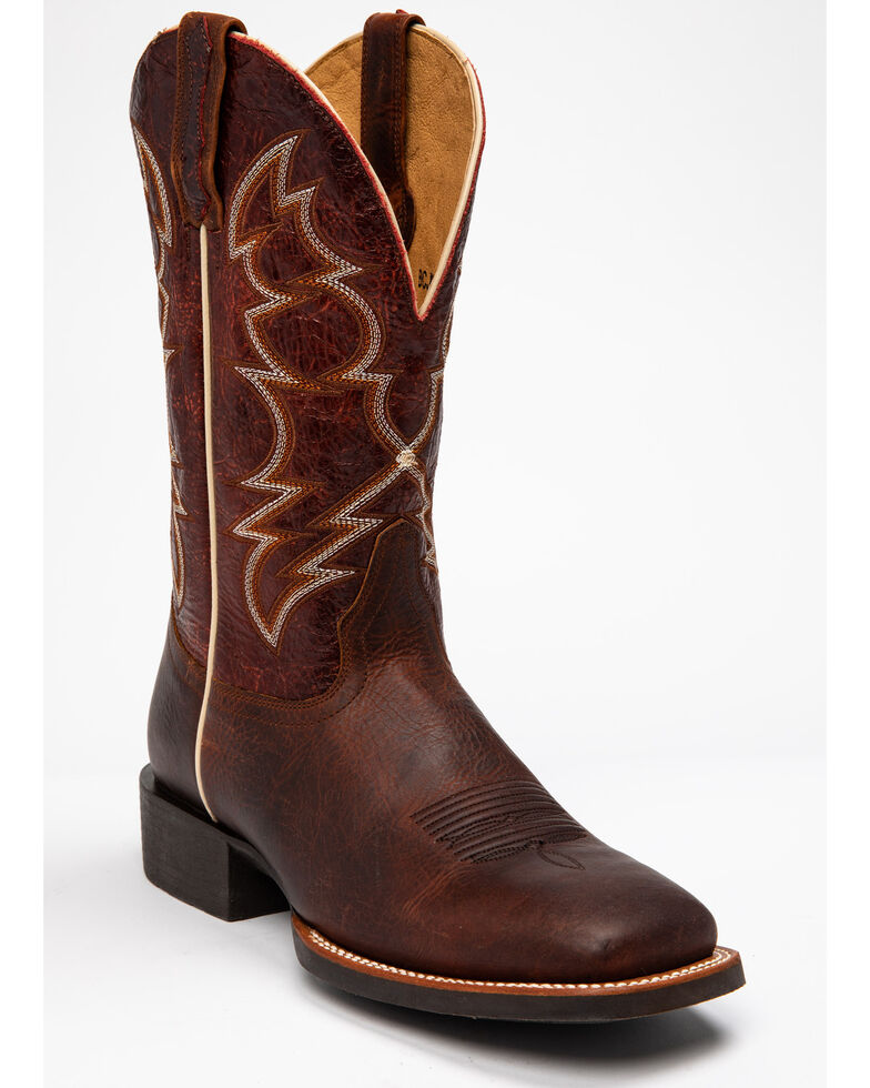 Cody James Men's Barley Western Boots - Square Toe, Brown, hi-res