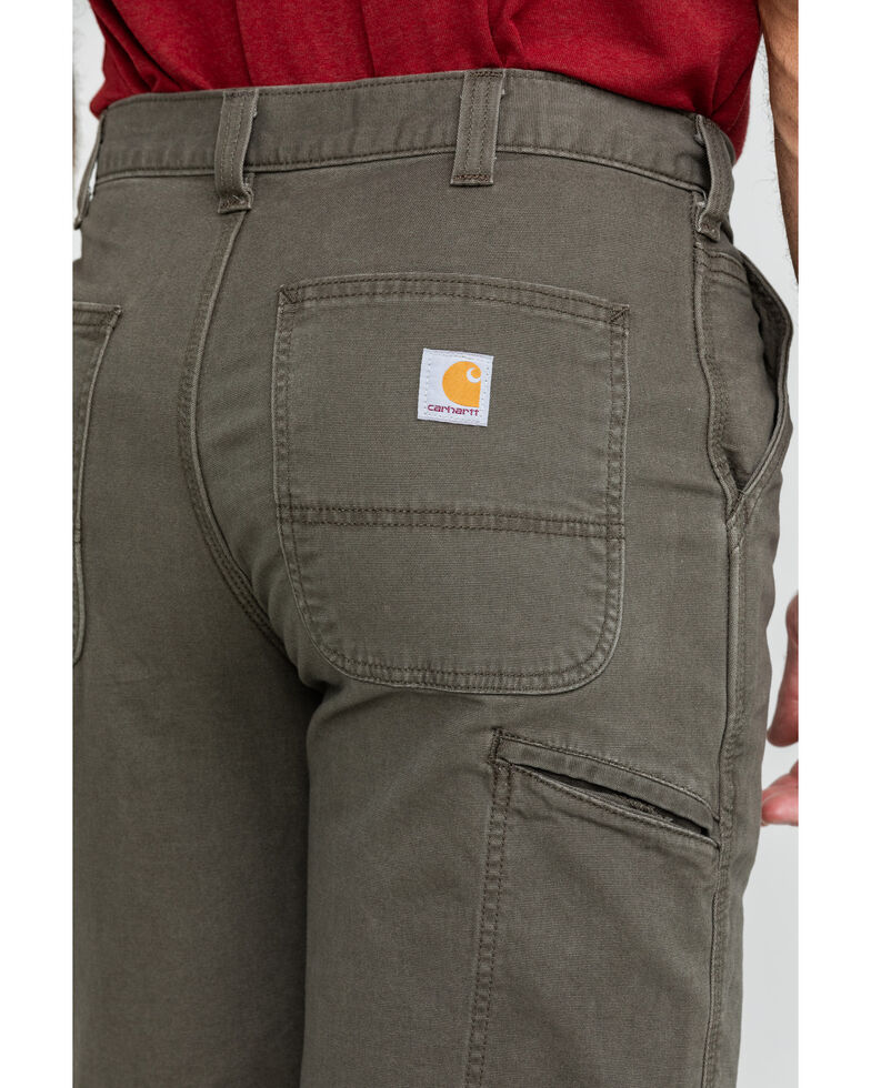 "Carhartt Men's Charcoal 10"" Rugged Flex Rigby Work Shorts , Charcoal, hi-res"