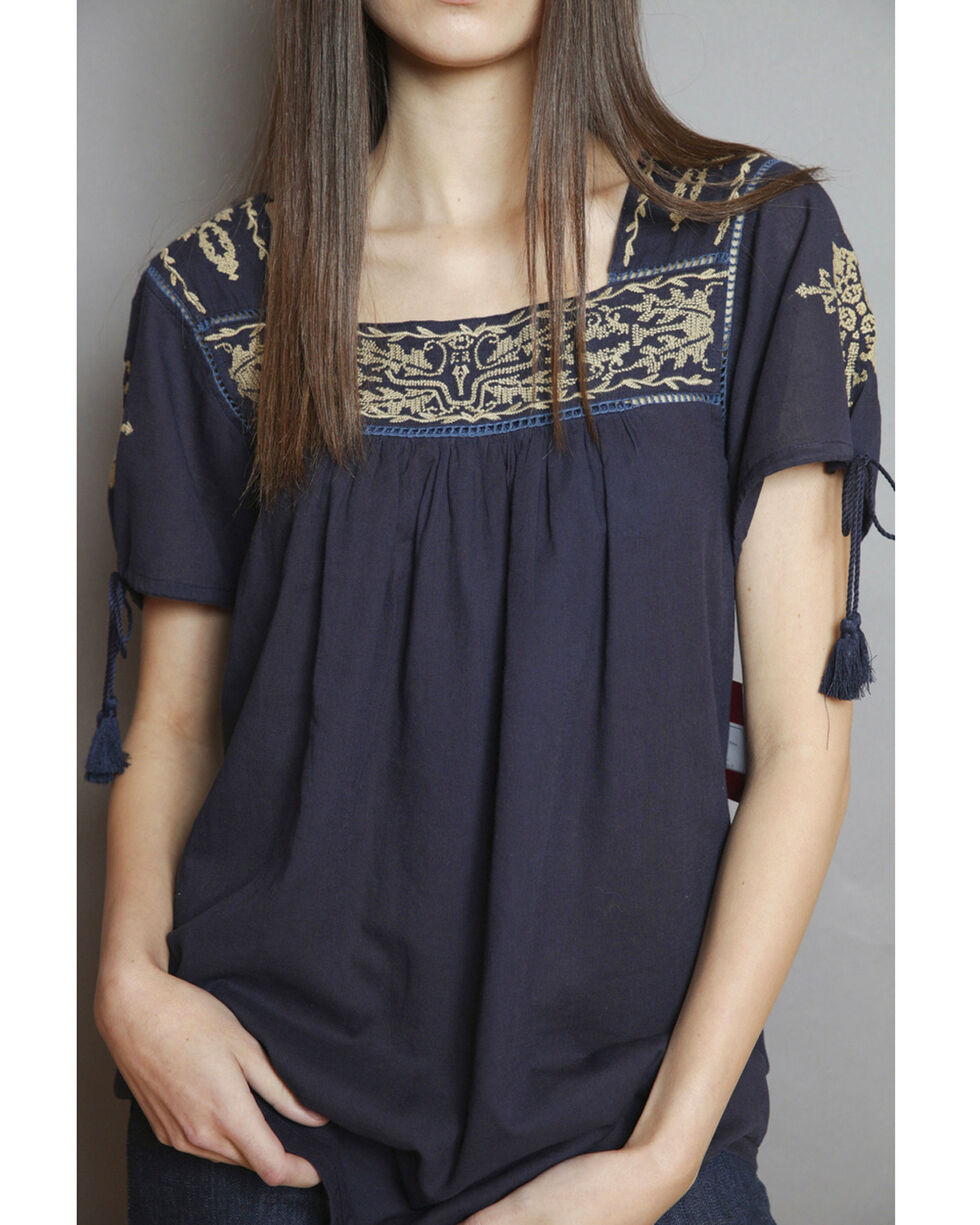 Kimes Ranch Women's Willow Top , Blue, hi-res
