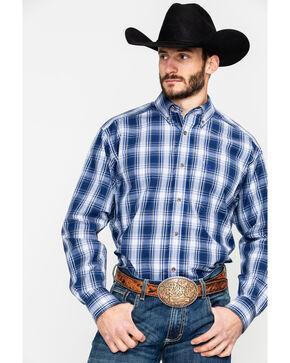 Ariat Men's Gallahan Large Plaid Long Sleeve Western Shirt , Blue, hi-res