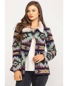 Powder River Outfitters Women's Aztec Jacquard Multi-Color Jacket, Multi, hi-res