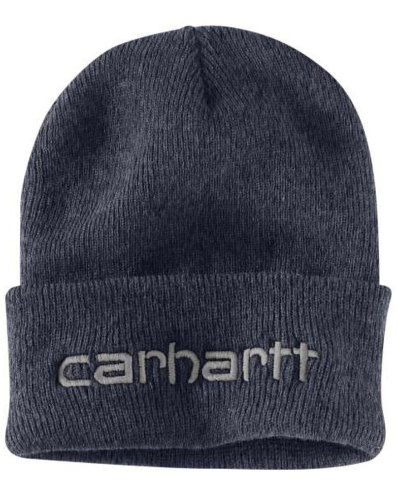 Carhartt Men's Heathered Grey Teller Beanie, Heather Grey, hi-res