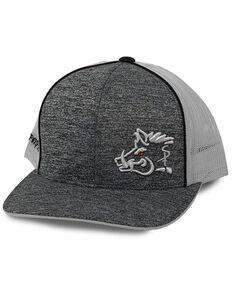 Oil Field Hats Men's Heather Navy & White Embroidered Sniper Pig Mesh-Back Trucker Cap , Navy, hi-res