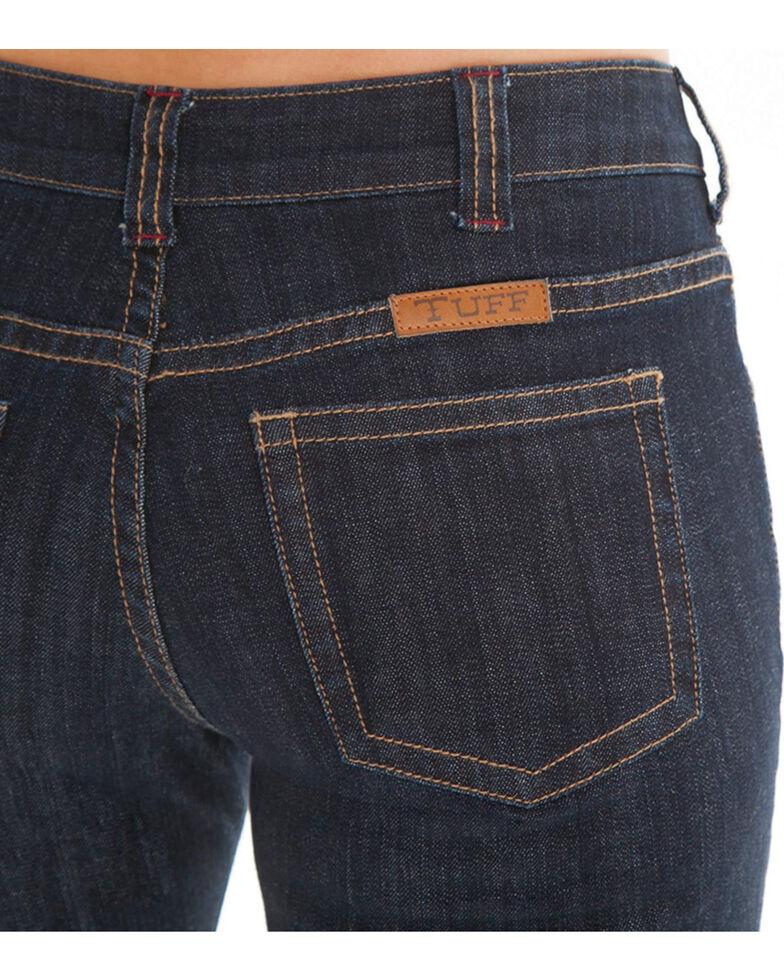 Cowgirl Tuff Women's Dark Wash Bootcut Jeans , Blue, hi-res