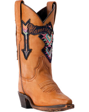Laredo Women's Eccentric Blameless Arrow Cowgirl Boots - Snip Toe, Tan, hi-res