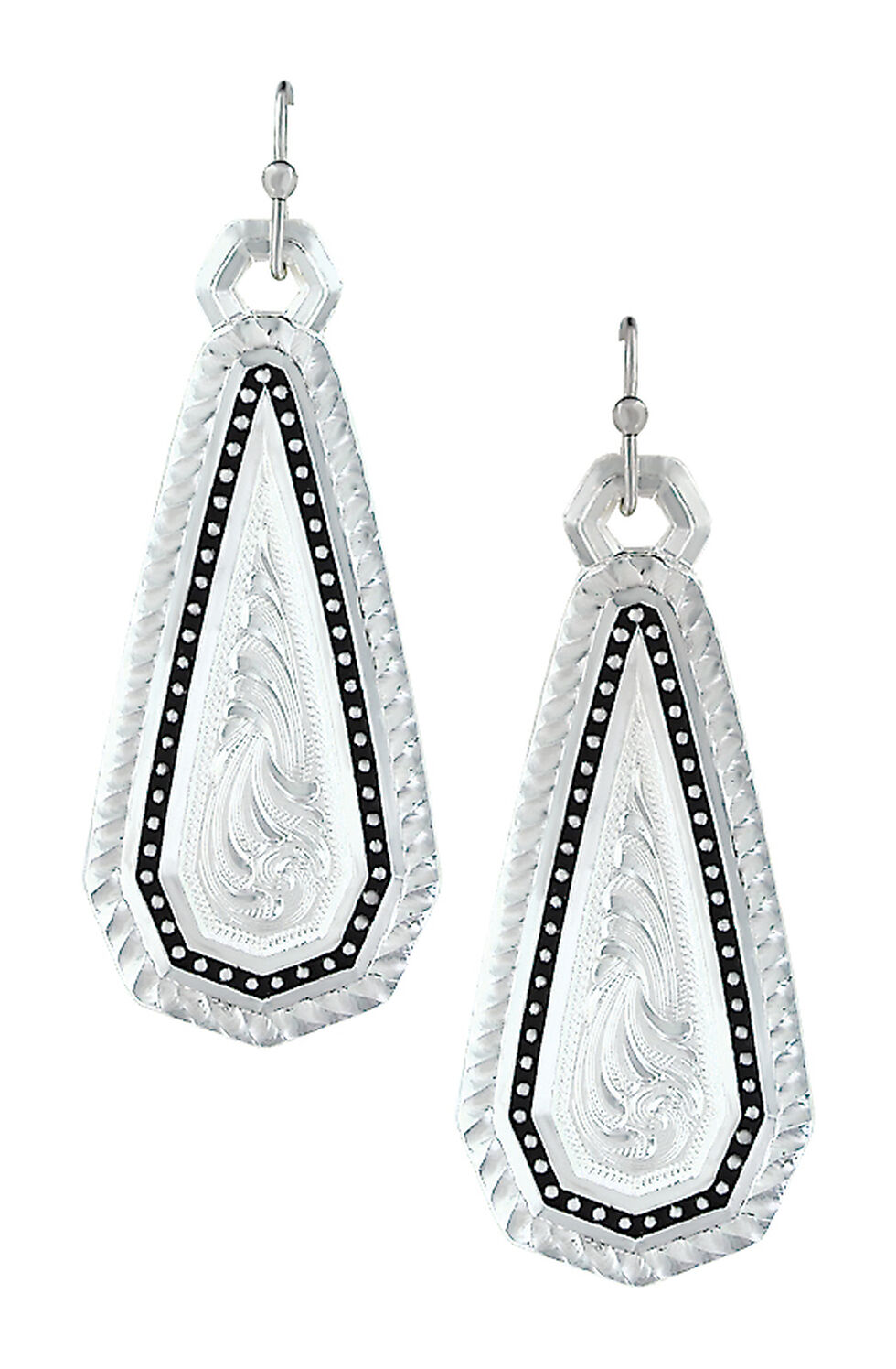 Montana Silversmiths A Fine Stitched Shard Earrings , Silver, hi-res