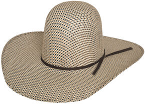 Bullhide Men's Brahmer Tamer 50X Straw Cowboy Hat, Natural, hi-res