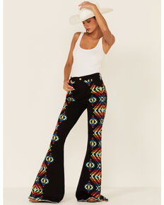 Ranch Dress'n Women's Arizona Flare Jeans , Black, hi-res