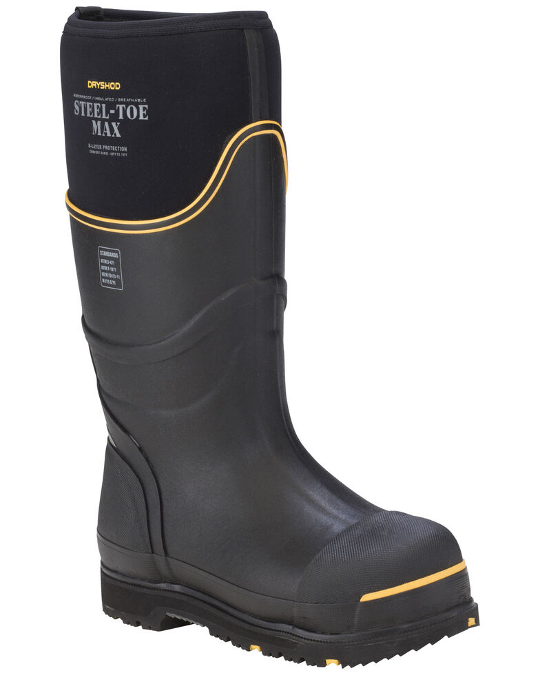Dryshod Men's Steel Toe Max Cold Conditions Protective Boots, Black, hi-res