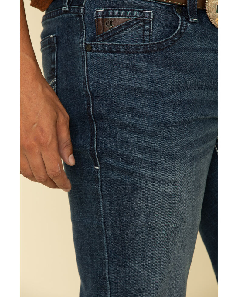 Cody James Core Men's Tophand Thermolite Performance Stretch Slim Medium Wash Straight Jeans , Blue, hi-res