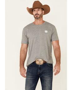 Cinch Men's Grey Flag Logo Graphic Short Sleeve T-Shirt , Grey, hi-res