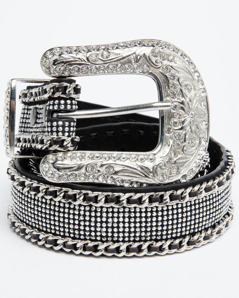 Shyanne Women's Chain Mesh Belt, Black, hi-res