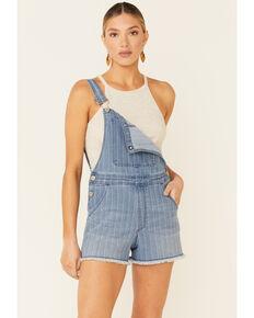 Rock & Roll Denim Women's Thin Stripe Shortall Overalls, Indigo, hi-res