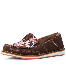 Ariat Women's Aztec Cruiser Shoes - Moc Toe, Brown, hi-res