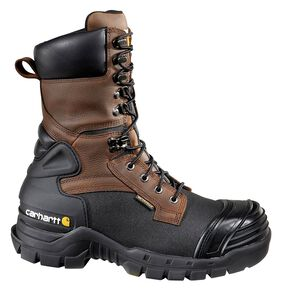 """Carhartt 10"""" Waterproof Insulated Pac Boots - Composite Toe, Black, hi-res"""