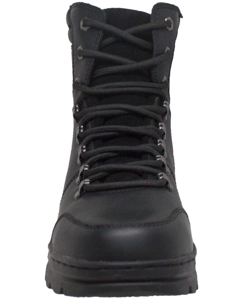 """Ad Tec Men's 6"""" Biker Boots - Round Toe, Black, hi-res"""