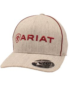 Ariat Men's Logo Snap Back Baseball Cap , Grey, hi-res