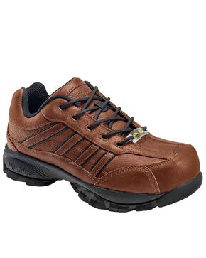 Nautilus Men's ESD Athletic Work Shoes - Steel Toe, Brown, hi-res
