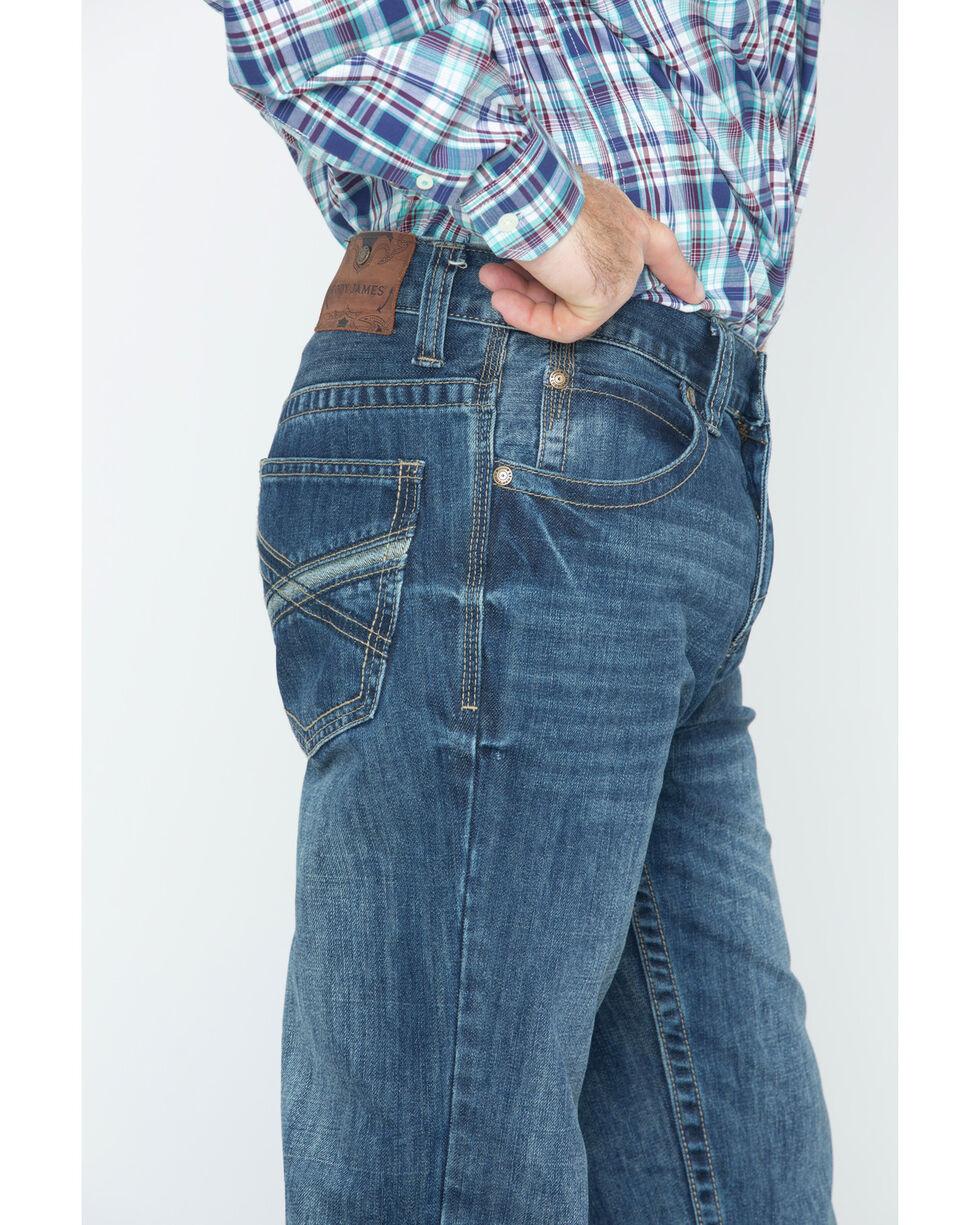 Cody James Men's Dark Wash Slim Boot Cut Jeans , Blue, hi-res