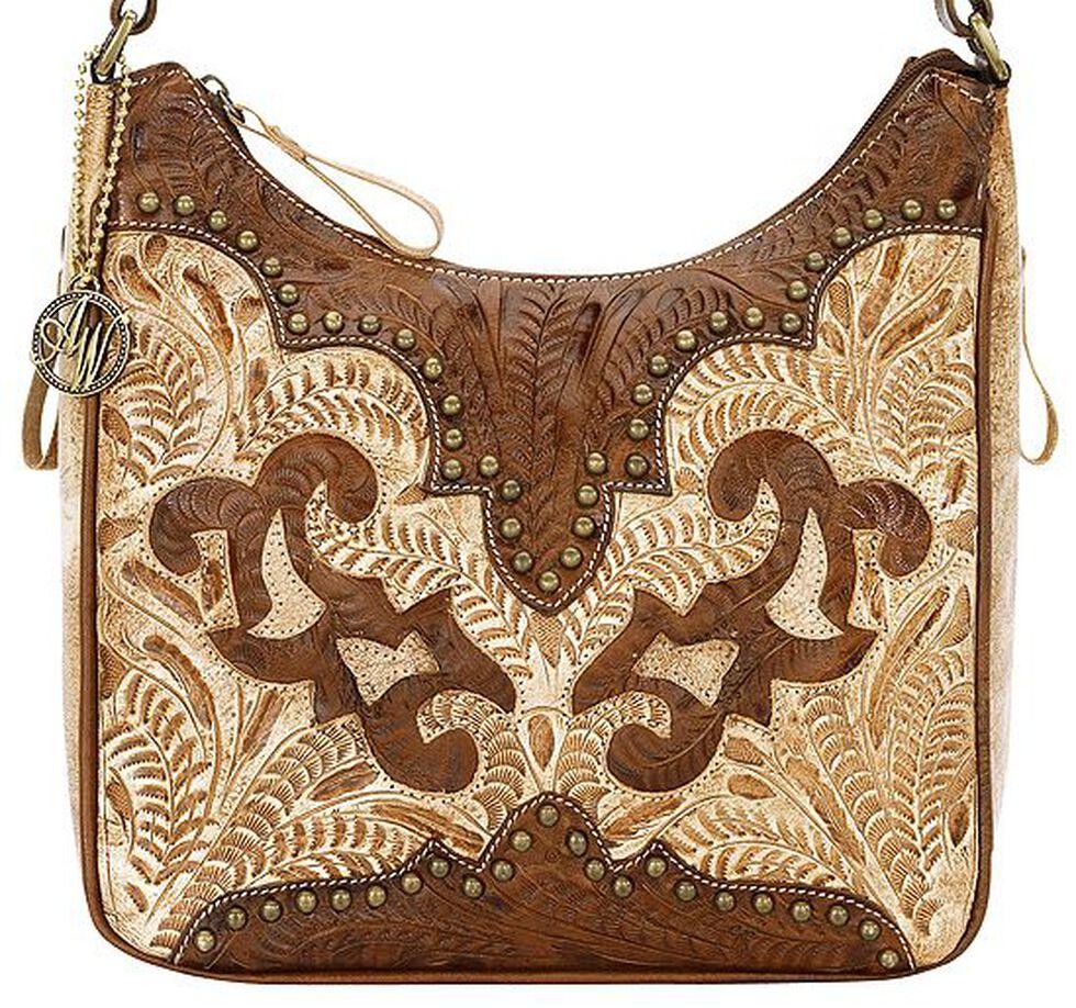 American West Annie's Secret Collection Concealed Carry Shoulder Bag, Tan, hi-res