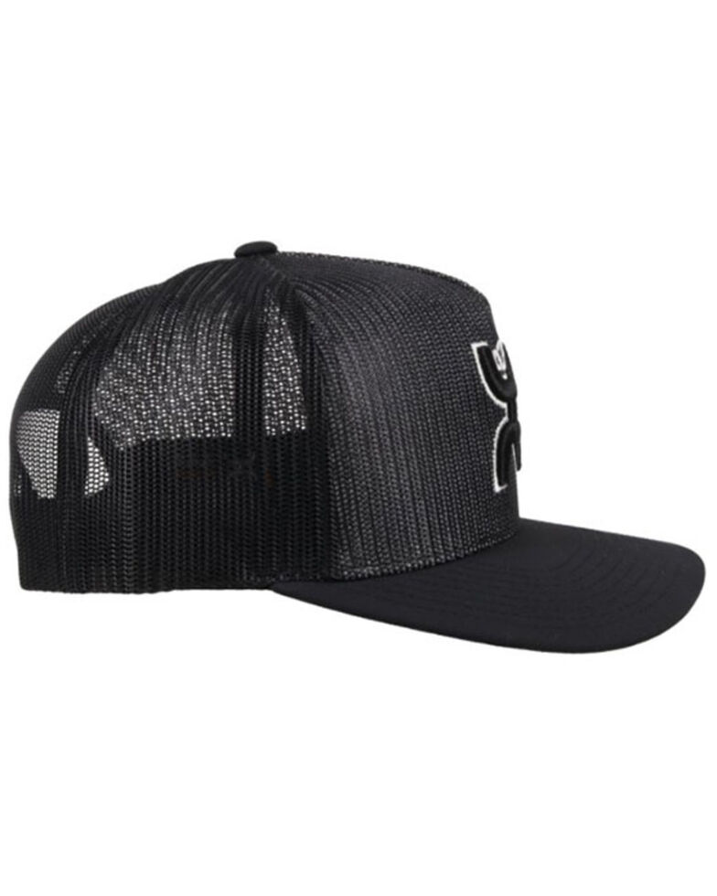 HOOey Men's Baller Logo Mesh Trucker Ball Cap , Black, hi-res
