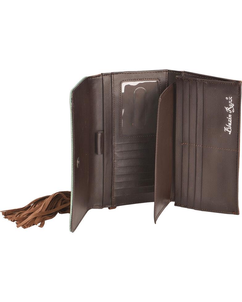 Blazin Roxx Women's Zapotec Aztec Flap Wallet, Brown, hi-res