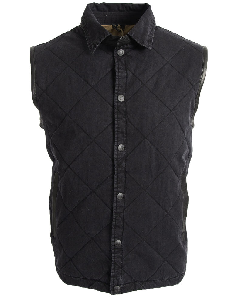 STS Ranchwear Men's Black Yellowstone Vest , Black, hi-res