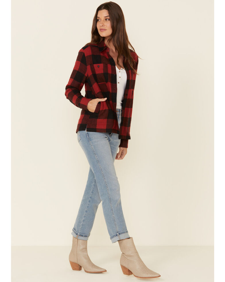 United By Blue Women's Red Rock Buffalo Plaid Long Sleeve Western Flannel Shirt , Red, hi-res
