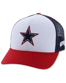 HOOey Men's Dallas Flex Fit Star Patch Cap , Multi, hi-res