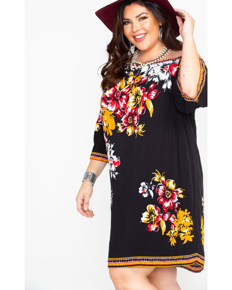 f94f49cf ... Country Floral Print Dress: Flying Tomato Women's Floral Print Off  Shoulder Dress