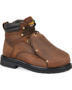 Carolina Men's Dark Brown MetGuard Boots - Steel Toe, Dark Brown, hi-res
