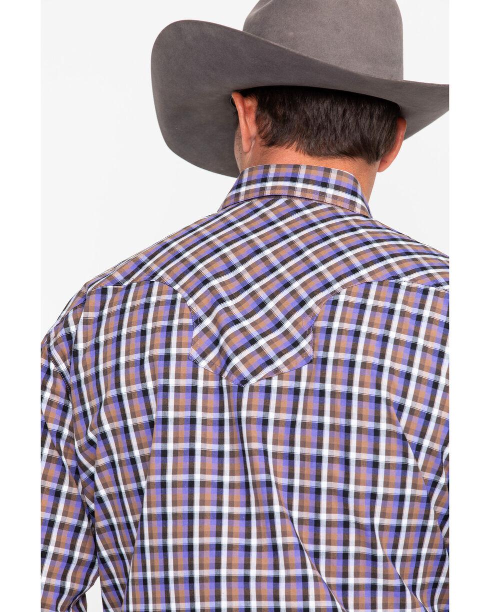 Roper Men's Purple Small Plaid Long Sleeve Western Shirt , Purple, hi-res