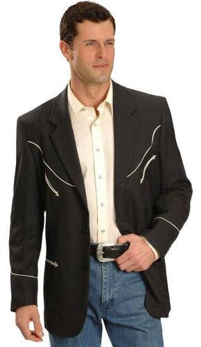 Scully Black Retro Western Jacket - Big and Tall, Black, hi-res