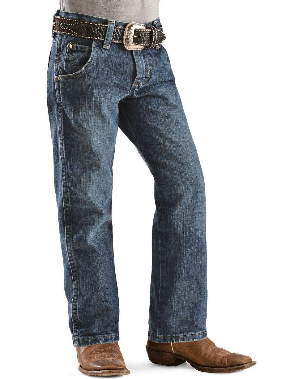 Wrangler Boys' Retro Relaxed Fit Straight Leg Jeans - 4-7, Denim, hi-res