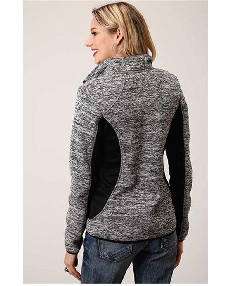 Roper Women's Grey Bonded Fleece Zip Jacket, Grey, hi-res