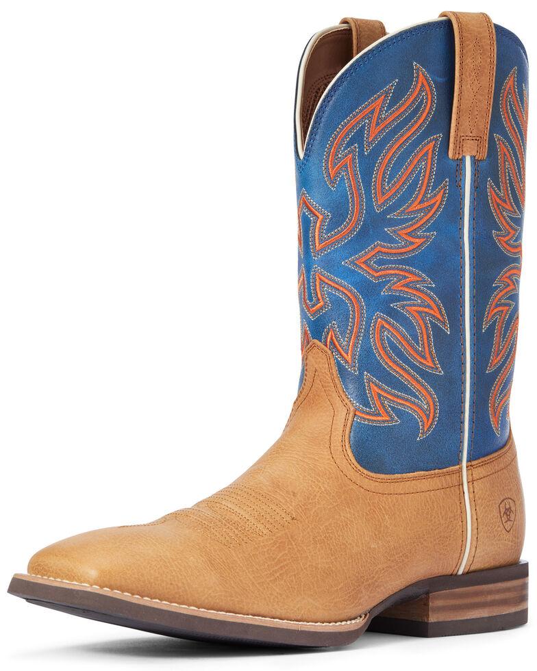 Ariat Men's Everlite Vapor Western Boots - Wide Square Toe, Brown, hi-res