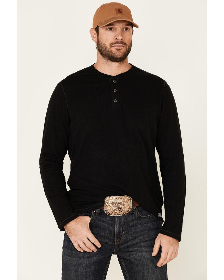 Flag & Anthem Men's Black Fairbanks Henley Long Sleeve Shirt , Black, hi-res