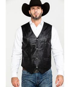 Liberty Wear Men's Jackson Lambskin Leather Vest - Big , Black, hi-res