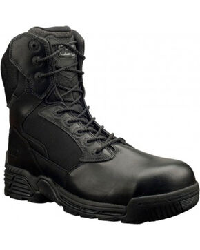 Magnum Men's Stealth Force Side Zip Work Boots - Comp Toe, Black, hi-res